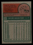 1975 Topps Mini #530  Gaylord Perry  Back Thumbnail
