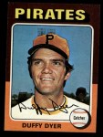 1975 Topps Mini #538  Duffy Dyer  Front Thumbnail