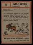 1962 Topps #18  Stan Jones  Back Thumbnail