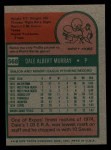 1975 Topps Mini #568  Dale Murray  Back Thumbnail