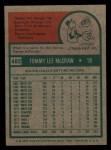 1975 Topps Mini #482  Tom McCraw  Back Thumbnail