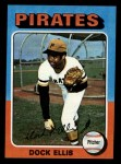 1975 Topps Mini #385   Doc Ellis Front Thumbnail