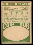1968 Topps #127   Dick Butkus Back Thumbnail