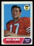 1968 Topps #186   Bill Kilmer Front Thumbnail