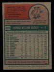 1975 Topps Mini #403  Tom Buskey  Back Thumbnail