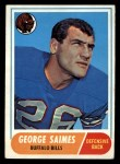 1968 Topps #201   George Saimes Front Thumbnail