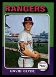 1975 Topps Mini #12  David Clyde  Front Thumbnail