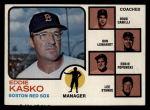 1973 Topps #131 ORG Red Sox Field Leaders    -  Eddie Kasko / Doug Camilli /  Don Lenhardt / Eddie Popowski / Lee Stange Front Thumbnail