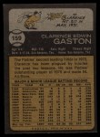 1973 Topps #159   Cito Gaston Back Thumbnail