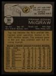 1973 Topps #30   Tug McGraw Back Thumbnail