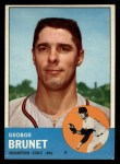 1963 Topps #538   George Brunet Front Thumbnail