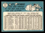 1965 Topps #111  Lee Thomas  Back Thumbnail