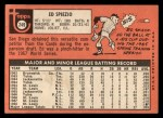 1969 Topps #249   Ed Spiezio Back Thumbnail