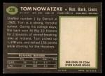 1969 Topps #236  Tom Nowatzke  Back Thumbnail