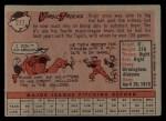 1958 Topps #277   Virgil Trucks Back Thumbnail