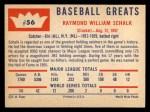 1960 Fleer #56   Ray Schalk Back Thumbnail