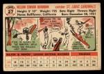 1956 Topps #27   Nelson Burbrink Back Thumbnail