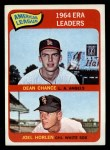 1965 Topps #7  1964 AL ERA Leaders  -  Dean Chance / Joel Horlen Front Thumbnail