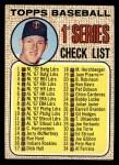 1968 Topps #67 C Checklist 1  -  Jim Kaat Front Thumbnail