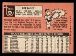 1969 Topps #399  Bob Bailey  Back Thumbnail