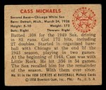 1950 Bowman #91  Cass Michaels  Back Thumbnail