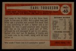 1954 Bowman #63  Earl Torgeson  Back Thumbnail