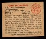 1950 Bowman #120  John Thompson  Back Thumbnail