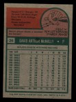 1975 Topps Mini #26   Dave McNally Back Thumbnail