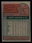 1975 Topps Mini #39   Andre Thornton Back Thumbnail