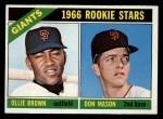 1966 Topps #524  Giants Rookies  -  Don Mason / Ollie Brown Front Thumbnail