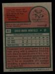 1975 Topps Mini #61  Dave Winfield  Back Thumbnail