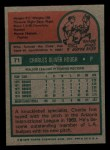 1975 Topps Mini #71  Charlie Hough  Back Thumbnail