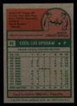 1975 Topps Mini #92   Cecil Upshaw Back Thumbnail