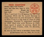 1950 Bowman #156   Fred Sanford Back Thumbnail