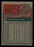 1975 Topps Mini #100   Willie Stargell Back Thumbnail