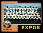 1975 Topps Mini #101  Expos Team Checklist  -  Gene Mauch Front Thumbnail