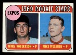 1969 Topps #284   -  Jerry Robertson / Mike Wegener Expos Rookies Front Thumbnail