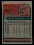 1975 Topps Mini #141  Mickey Stanley  Back Thumbnail