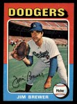 1975 Topps Mini #163  Jim Brewer  Front Thumbnail