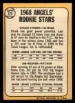 1968 Topps #328  Angels Rookies  -  Jim Weaver / Chuck Vinson Back Thumbnail
