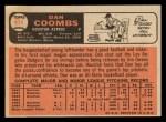 1966 Topps #414  Dan Coombs  Back Thumbnail