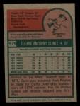 1975 Topps Mini #575   Gene Clines Back Thumbnail