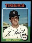 1975 Topps Mini #593   Gene Lamont Front Thumbnail