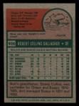 1975 Topps Mini #406   Bob Gallagher Back Thumbnail