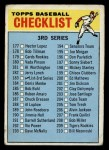 1966 Topps #183 SM  Checklist 3  Front Thumbnail
