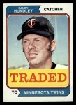 1974 Topps Traded #319 T Randy Hundley  Front Thumbnail