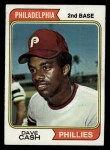 1974 Topps #198  Dave Cash  Front Thumbnail