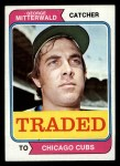 1974 Topps Traded #249 T  George Mitterwald Front Thumbnail