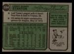 1974 Topps #594   Leroy Stanton Back Thumbnail