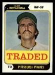 1974 Topps Traded #454 T Kurt Bevacqua  Front Thumbnail
